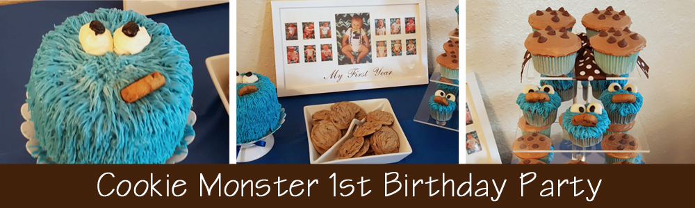 Cookie Monster 1st Birthday Party